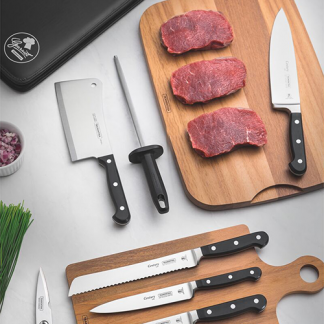 Knives and slicing utensils.